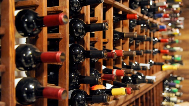 The wines in La Cava, a private-dining room and   wine cave in the lower level of Hotel Madrid, 600 S. 6th St., below the restaurant Bodegon and the bar Vermuteria 600.