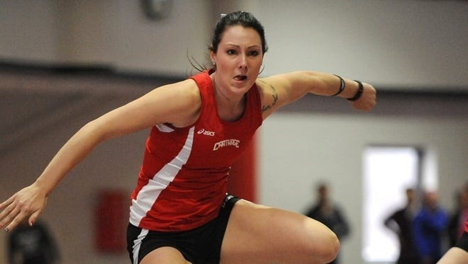 Chelsea McKay didn't think she would be competing in the heptathlon when she chose to attend Carthage College.