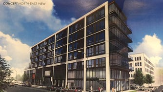 A six-story building with 60 high-end apartments is proposed for the Historic Third Ward.