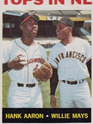 Hank Aaron and Willie Mays were pictured together on