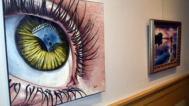 The work of New Bern's Katie Wiggs, adjunct drawing instructor for the Graphic Design program at Pitt Community College, is part of the Creative Workforce exhibit at the Bank of the Arts, opening during ArtWalk.