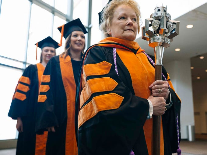 Mace Bearer Donna Lynch-Smith, Assistant Professor,