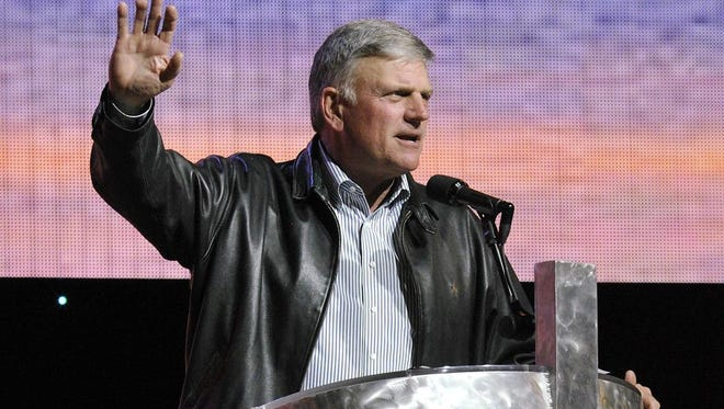 "Evangelist Franklin Graham says he has said ""for some time ... that Muslim immigration into the United States should be stopped until we can properly vet them or until the war with Islam is over."""