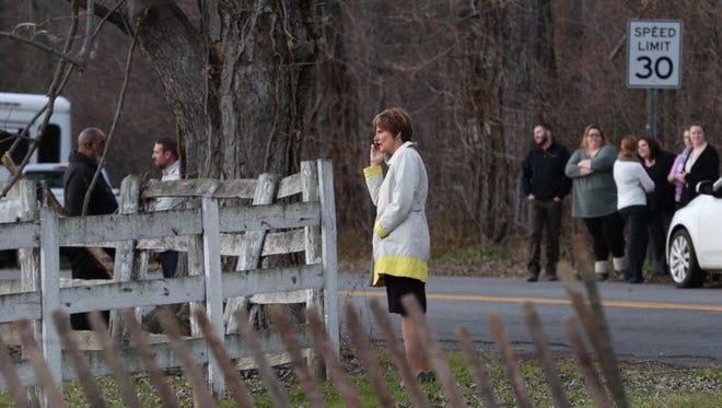The scene of the crash on Scottsville Road.