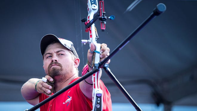 Arizona native Brady Ellison is seeking to clinch his third Olympic berth when U.S. Archery Trials conclude Sunday and Monday.