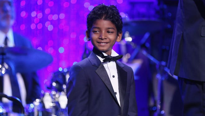 "Sunny Pawar, one of the stars of Oscar-nominated ""Lion,"" Beverly Hills, Calif., Feb. 25, 2017."