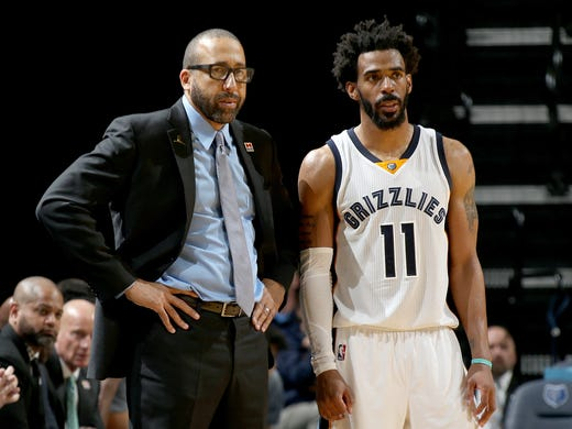 Memphis Grizzlies head coach David Fizdale and point