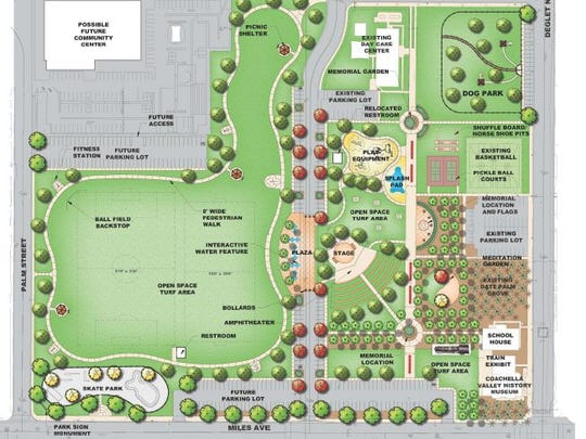Master Plan for the new Miles Avenue Park in Indio