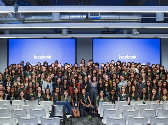 Girls Who Code at Facebook