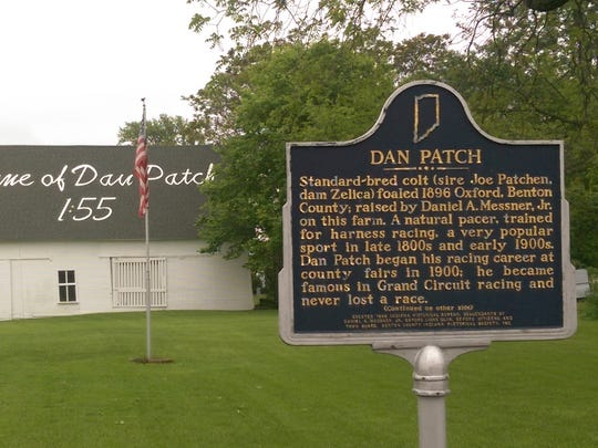 The Dan Patch historical marker is at 203 S. Michigan