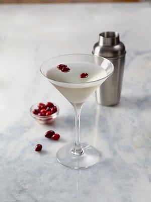 The Winter White Cosmo cocktail at Bonefish Grill.