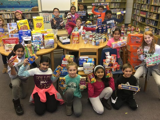 Hilldale Elentary School's Student Council held a food drive for the Montville Kiwanis Food Pantry.
