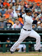 """Just the feeling of hitting the baseball, to me, it's the best feeling,"" said J.D. Martinez, who broke through with the Tigers last season, hitting .315 with 23 home runs. He already has 25 homers halfway through this season."
