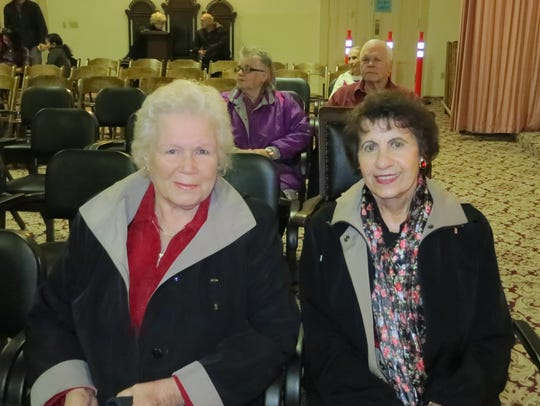 Else Gottfried (left) and Jean Stone of Redding attend
