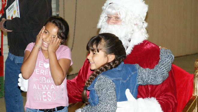 Children of all ages are expected to line up outside the courthouse pavilion to meet Santa Claus on Saturday, Dec. 1.