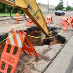 Water pipe problems continue along Meadowbrook Drive in Jackson.