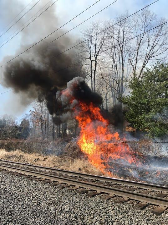 Clarkstown brush fire