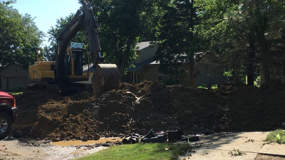 Replacing a water main can result in a total closure