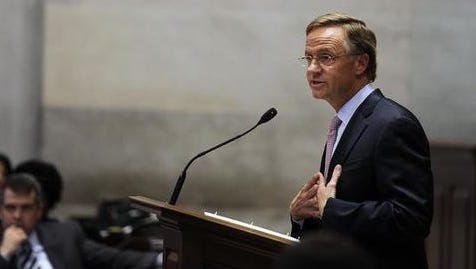 Gov. Bill Haslam unveiled plans for Insure Tennessee in December.