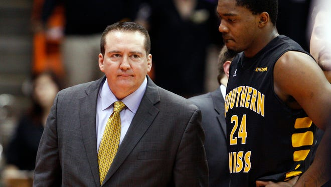 Former Southern Miss Golden Eagles head coach Donnie Tyndall.
