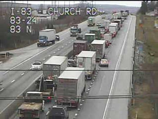 Interstate 83 crash on 3/1/17