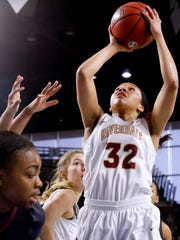 Riverdale's Brinae Alexander goes up for a shot during the Class AAA state tournament in March. Alexander is the Daily News Journal's female Athlete of the Year.