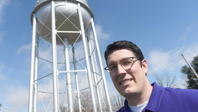 Ross Morland serves as the plants engineer for Waynesboro's public works department. Morland is photographed in Waynesboro on Tuesday, March 15, 2016.
