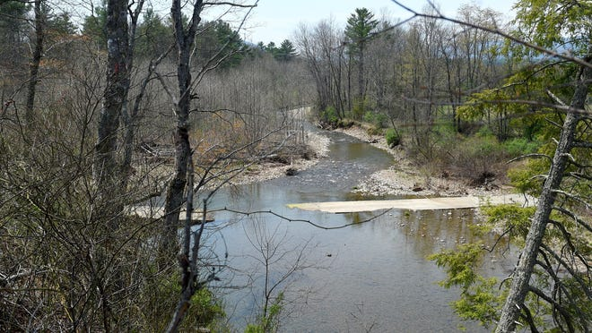Dominion's alternate route for their proposed Atlantic Coast Pipeline would have to cross the Calfpasture River more than once if built. The river is photographed as it flows through property belonging to Scott Ballin and his family in the Deerfield Valley.