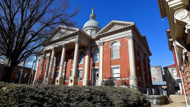 Located in downtown Staunton, the Augusta County Courthouse as photographed in 2015.