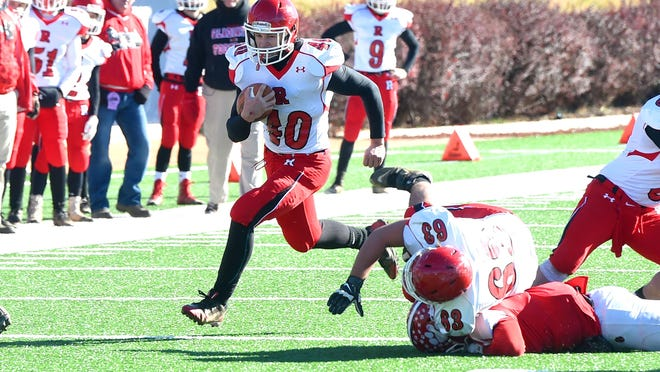 Riverheads' Harrison Schaefer, the All-City/County Player of the Year, rushed for over 2,000 yards and 38 touchdowns during the Red Pride's run to the Group 1A state title.