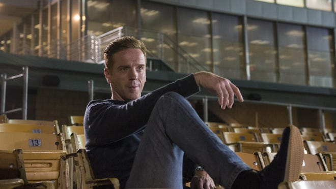 """Damian Lewis as Bobby """"Axe"""" Axelrod in an episode from """"Billions"""" upcoming season tw. Who knows where he's sitting?"""