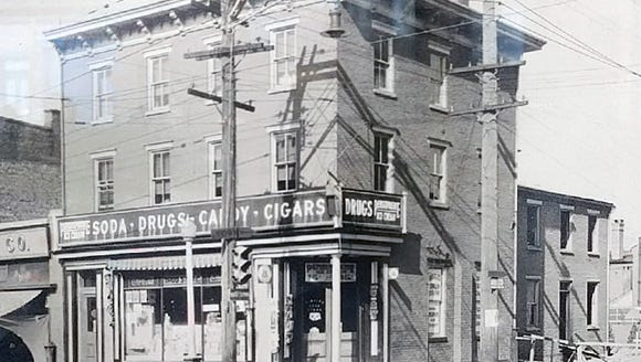 An undated photo of Hinkle's Pharmacy in Columbia