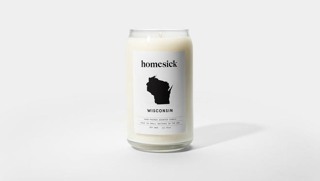 """The Wisconsin """"Homesick candle"""" smells like """"all the ingredients for a perfect cinnamon Kringle on a snowy afternoon."""""""