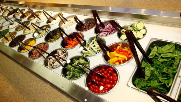 The salad bar is a popular choice at Jason's Deli.
