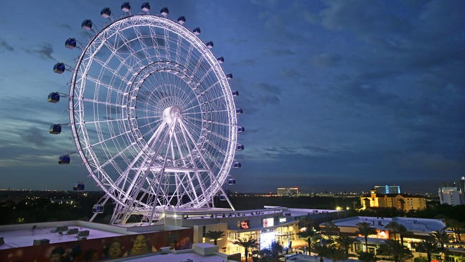 The Orlando Eye, the 400-foot observation wheel that opened last year, towers over the city. The number of tourists in Orlando grew by 5.5 percent from 2014, when Orlando became the most visited tourist destination in the United States.