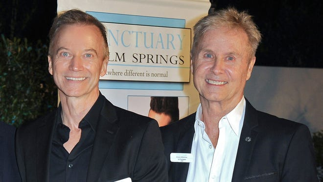 David Rothmiller (left) and his husband, LD Thompson, launched Sanctuary Palm Springs three years ago.