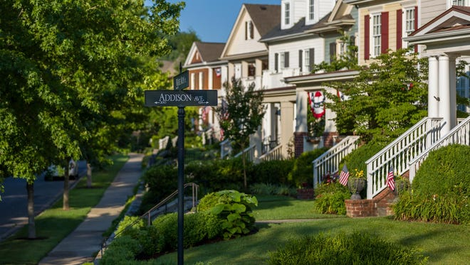 Westhaven is in the suburbs, but with sidewalks and tree-lined streets it resembles a traditional urban neighborhood.