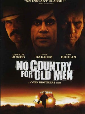 """""""No Country for Old Men"""" (2007) stars Tommy Lee Jones, Javier Bardem and Josh Brolin, directed by Ethan and Joel Coen, based on novel by Cormac McCarthy. Filming locations include Las Vegas, Albuquerque and Santa Fe, New Mexico."""