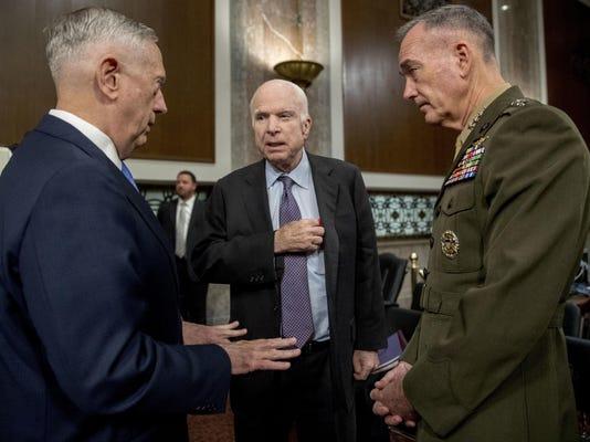 Jim Mattis,Joseph Dunford,John McCain