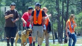 Dogs constitute an important part of life in Ruidoso. This German shepherd helped on a recent community clean-up day.