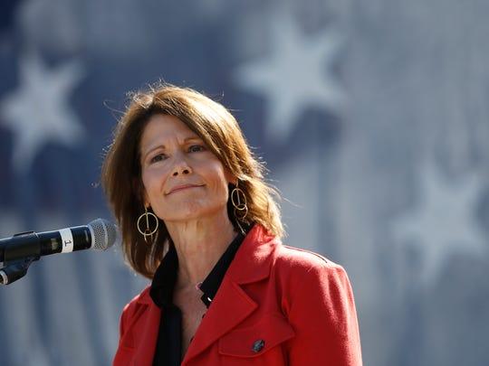 U.S. Rep. Cheri Bustos (D-IL) speaks Saturday, Sept.