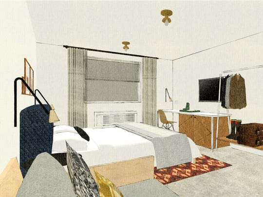 Here are renderings of what the renovated Corktown Inn in Detroit will look like once it becomes Trumbull and Porter.
