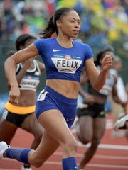 Allyson Felix will try to win gold in the 400.