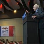 Sen. Bernie Sanders, I-Vt. speaks at a campaign rally in Cedar Rapids, Iowa, on Saturday, January 30, 2016.