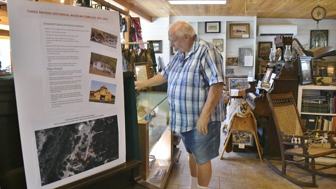 Tom Marshall, Three Rivers Museum curator, has been working for more than two years to expand the facility and add public restrooms.