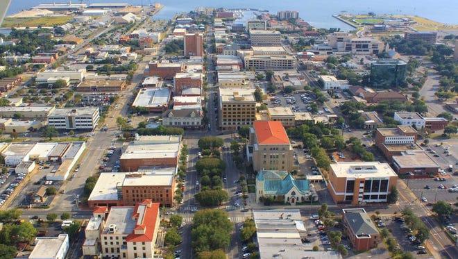 Aerial view of Palafox Street.