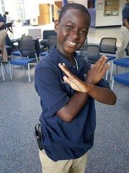 Clopher Watson IV, an 11-year-old sixth-grader at