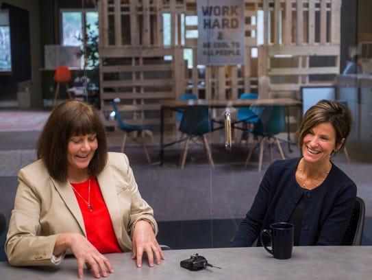 From left, new Senior Vice President Janette Bombardier