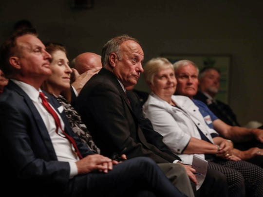 Congressman Steve King joins fellow republicans during the Faith and Freedom Coalition Saturday, May 12, 2018, at Walnut Creek Church in Windsor Heights.