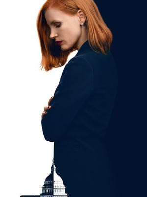"Jessica Chastain stars in the film ""Miss Sloane,."" opening Thursday at Regal West Manchester Stadium 13, Frank Theatres Queensgate Stadium 13 and R/C Hanover Movies."